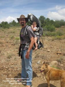 Babywearing on a hike