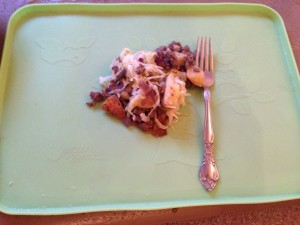 HEAB/CD's dinner hash: yukon potatoes, grass fed ground beef, mushrooms, onions, and sauerkraut