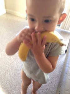 loves his bananas