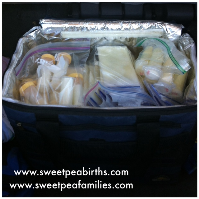 Cooler full of milk - 400+ ounces for a MotherBaby who couldn't breastfeed due to a hospitalization.