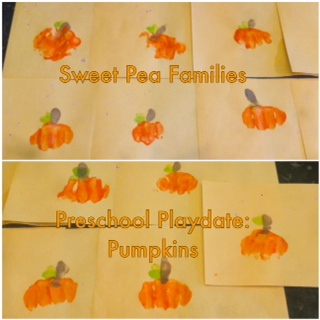 Sweet Pea Families Pumpkin Playdate: Arts & Crafts