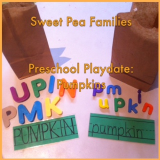 Sweet Pea Families Pumpkin Playdate: Literacy Center